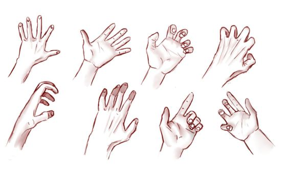Male Hands Practice by AkumaRyoshi