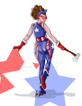 Spangled girl by Lucianette