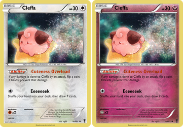 Cleffa card - Hall of Fame 01 by Metoro