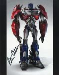 Signed Optimus Prime poster by fanfictionaxis