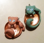 Finished Normal and Shiny Mew Charms by NicholiDeSchidor