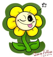 Flowey the Flower by KitkatzSnatcher