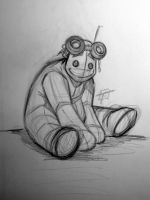 Mr. Mucho Pencil Sketch by OilCanDrive