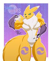 Renamon Flex by LunarDiaries