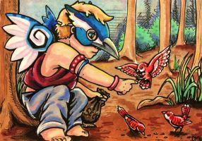 ACEO: Feathered Friends by DanielleMWilliams