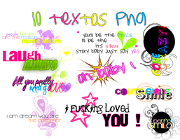 Primer pack de text  png + by Discopada
