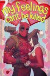 a deadpool and harley quinn valentine by m7781