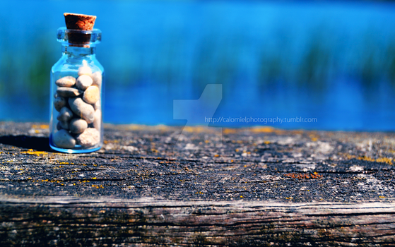 Bottle of Stones by Calomiel
