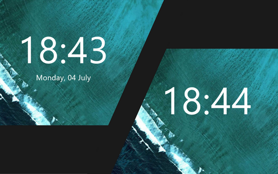 Simple Clock for Rainmeter by xGuty