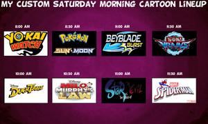 My Custom Saturday Morning Lineup by MarioFanProductions
