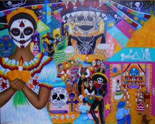 The Mexican Day of the Dead by sagaratutuji