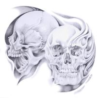 double skull merge by Pallat