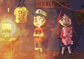 Dipper and Mabel by fizi4