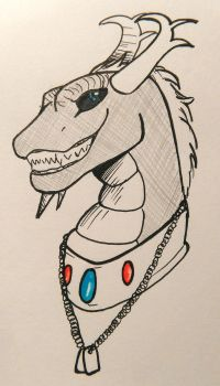 Draykat Bust :Contest prize: by DawnDragonscale