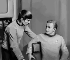 Kirk and Spock - TOS by DreamyNatalie