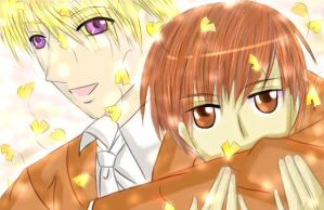 Haruhi and Tamaki - Flower by crazy4cloud