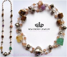 WALK UNDER THE MOONLIGHT crystal energy necklace by NEWENERGYJEWELRY