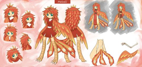 Commission Character sheet Melodii by HowXu