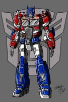 TFM Reboot Optimus Prime by ArtessZeroWolfSketch
