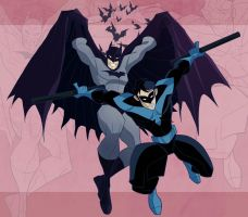 Batman and Nightwing by Drawaholic1124