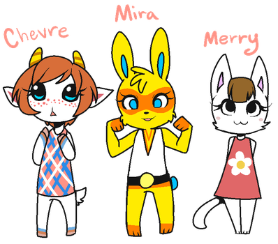 Animal Crossing Villagers by Aishyu