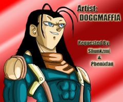 Super Android 17 MS Paint by DOGGMAFFIA