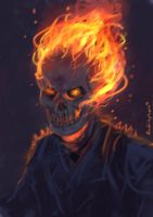 Ghost Rider Speedpaint by oshirockingham