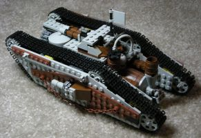 Heavy Steam Tank Mk. I (back) by RRaillery