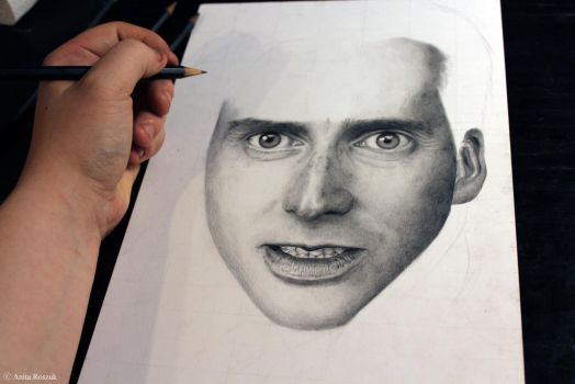 David Tennant - Work in progress by Red-Szajn