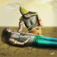 Crying Duryodhana by unnibabu