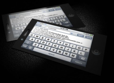 IPhone SMS Business Card by CaCaDoo