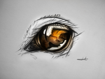 Horse eye - Drawing by MuuseDesign