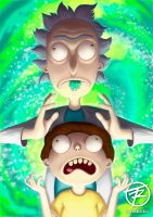 Rick and Morty Fan Art by juandatruji