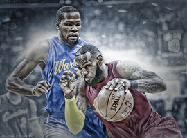Kevin Durant and Lebron James , Game 3 NBA FINALS by HyDrAndre