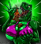 How Much T. Rex Can Vore? - [GIFT] by theHyenasSBE