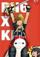 Sora and Baymax!! by hachii85