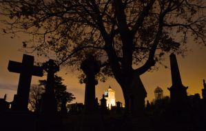 Night Cemetery by BusterBrownBB