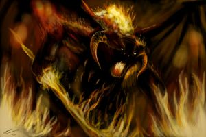 The Balrog by abchurches