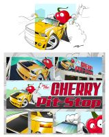 Cherry Pit Stop sign design by KyleValenti