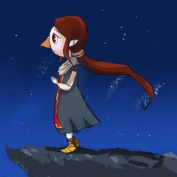 gazing out at sea by Fairy-Red-Hime