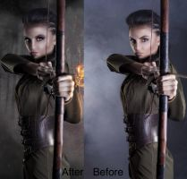 Before and After Fire Warrior by Shann2j