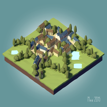 village [LowPoly] [Tutorial] by Mezaka