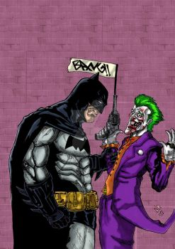 Batman V Joker RE colored by nic011