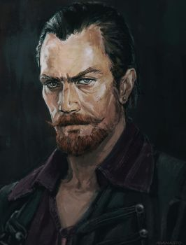 Captain Flint  - Black Sails by AdamaSto