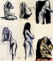Life Drawing 5 min pose by eterna2