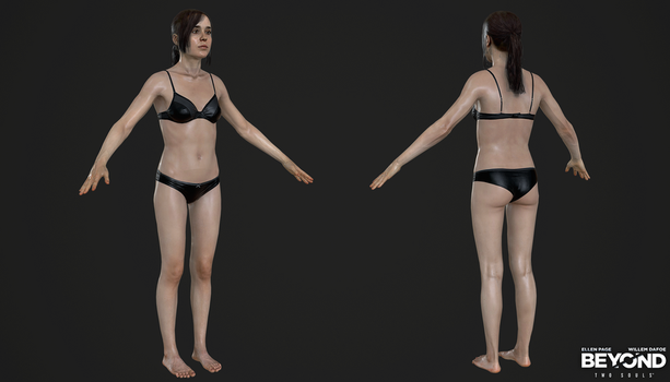 PS3 Beyond Two Souls - Jodie Lingerie The Dinner by Crazy31139
