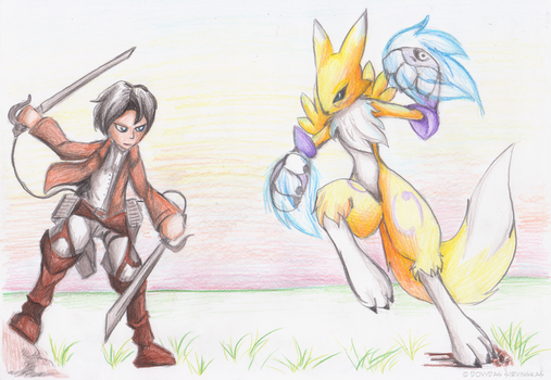 Attack on Digimon by Mancoin