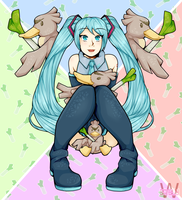 Miku and Farfetch'd