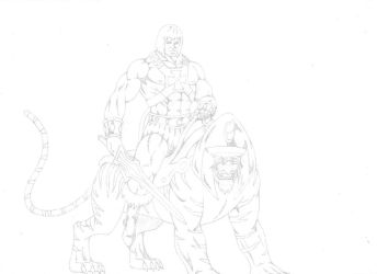 He-Man and Battlecat by darkclaw1303