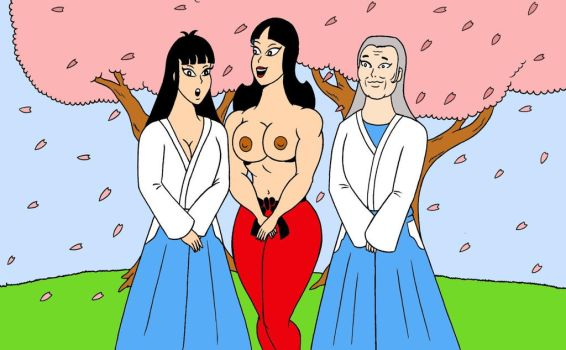 Susy and friends, japanese spring by loenror